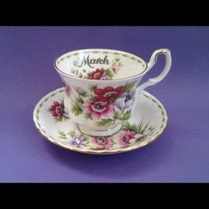 Other - Royal Albert March Anemones Teacup And Saucer